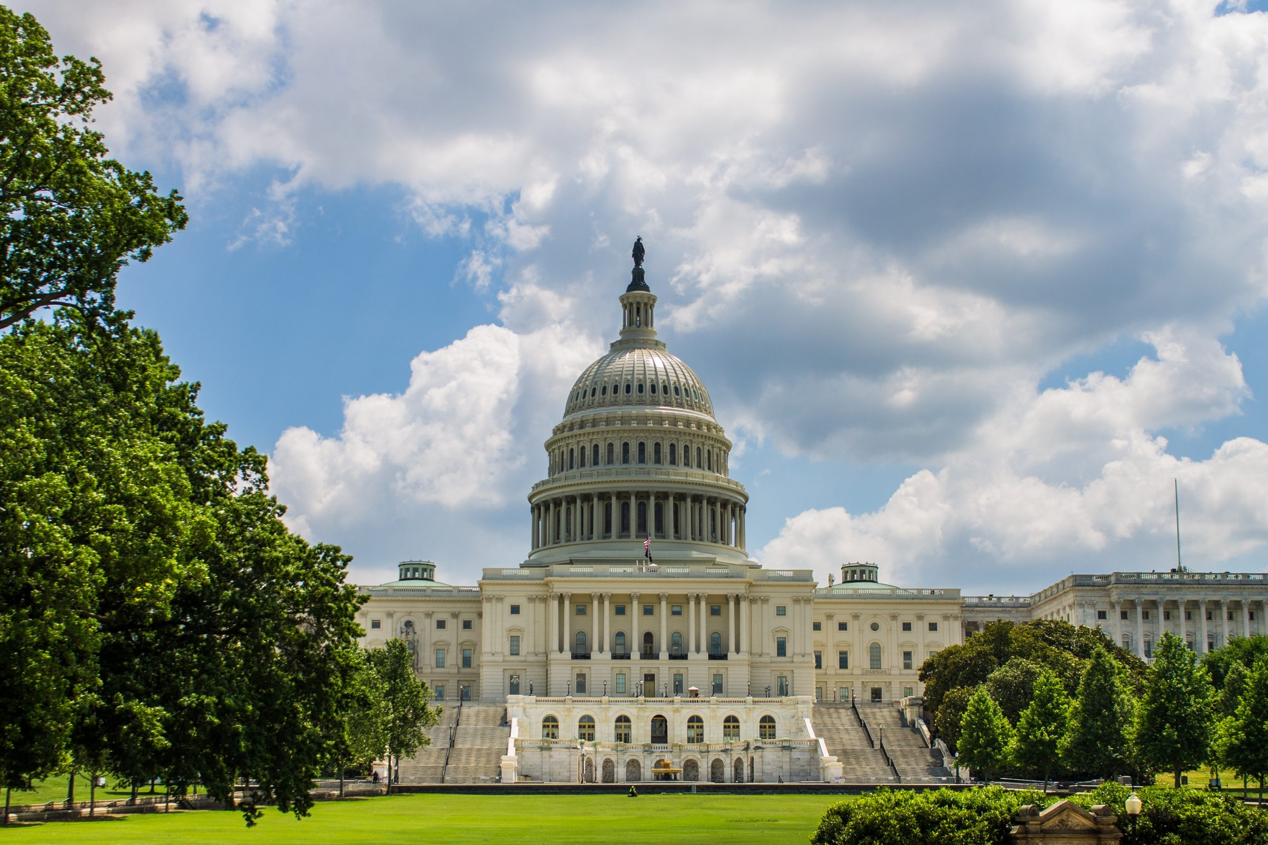 cannabis news - the US capitol building on a partly cloudy day