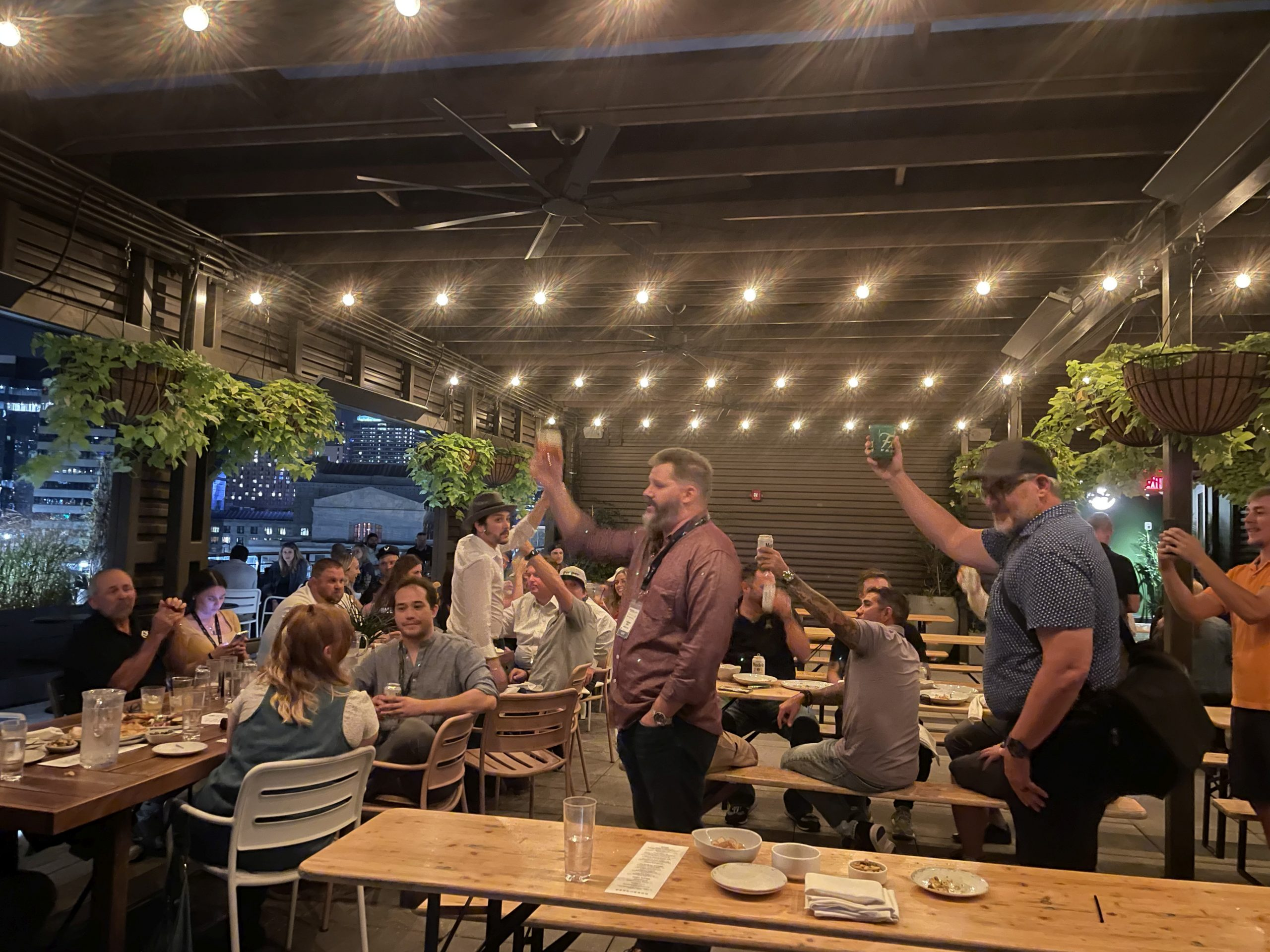 Matthan Black toasts to community and friendship to wrap up the after-meetup hosted by Flora Farms at Percheron Rooftop Bar